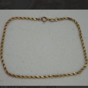 Dainty Solid 10K Diamond Cut Rope Bracelet